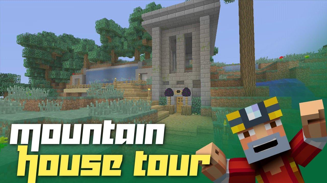 Minecraft xbox 360 classic mountain house tour for Classic house tour