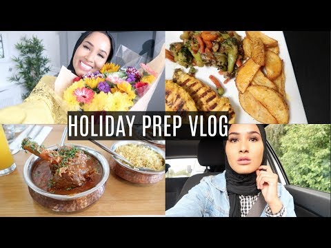 WEEKLY VLOG #12- Prepping For Our Holiday, Primark Shopping+ Lots of FOOD | Zeinah Nur