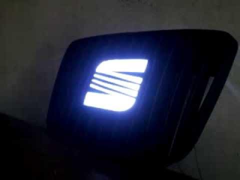 seat ibiza car logo light youtube. Black Bedroom Furniture Sets. Home Design Ideas