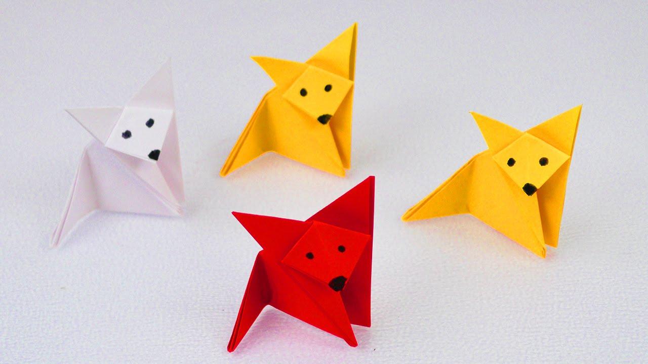 fuchs falten origami fox super einfach super niedlich bastelidee youtube. Black Bedroom Furniture Sets. Home Design Ideas