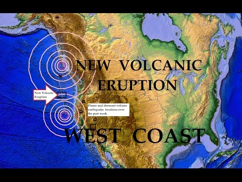 5/01/2015 -- Volcano Erupts OFF WEST COAST of Oregon + Nearby Volcanic plumes show on Satellite!
