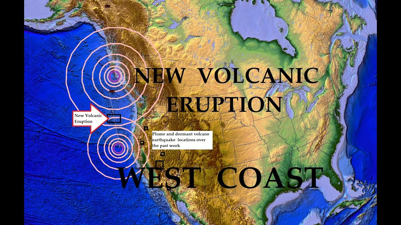 Volcano Erupts OFF WEST COAST Of Oregon Nearby - Us volcano map