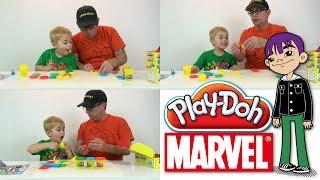 Play-doh - Marvel Super Hero Adventures - Spiderman, Hulk And More