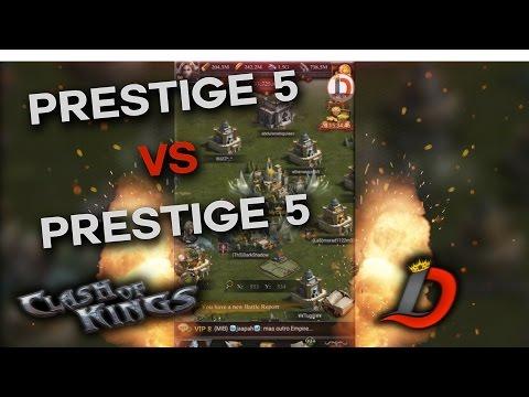 PRESTIGE 5 VS PRESTIGE 5 FULLY MAXED EVERYTHING (CLASH OF KINGS BETA)