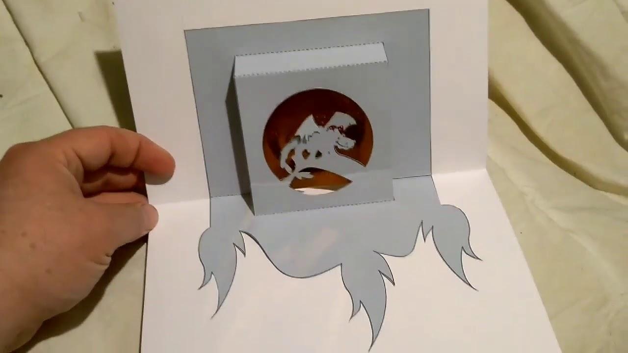 Carte Kirigami Dragon Réalisée Par Benjamin Youtube