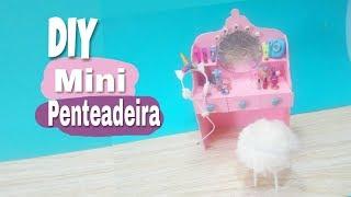 DIY Mini Penteadeira – Ideia com caixas de fósforo Miniaturas para bonecas