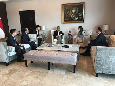Chinese Foreign Minister Wang Yi in Panama to open new embassy