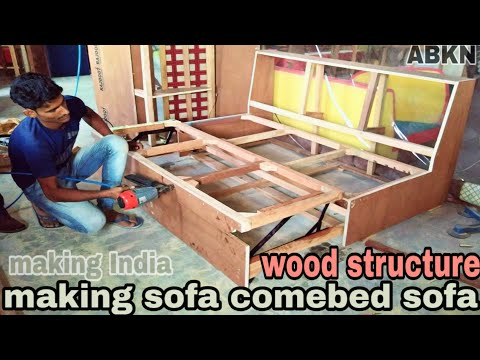 how to make sofa comebed wood structure chaina mechanism making full tutorial