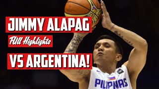 Throwback! Jimmy Alapag Highlights vs Argentina! 15 pts 2 assist! Philippines vs Argentina!
