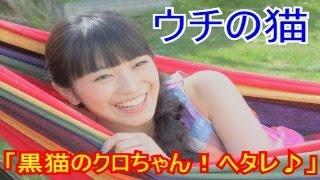 【ウチの猫】miwa「黒猫のクロちゃん♪ヘタレ♪♪」 この話は本当なんでし...