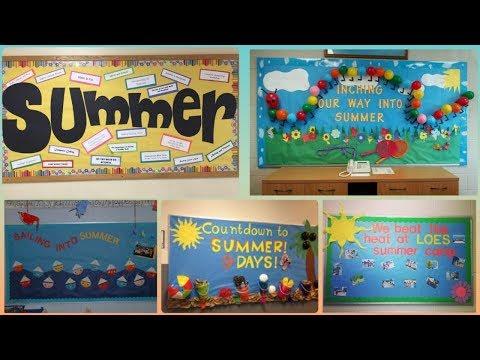Summer School Display Board Ideas    Summer Notice Board Ideas For School
