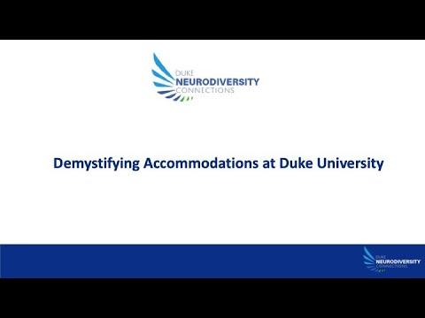 Demystifying Accommodations at Duke University CC
