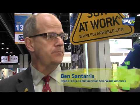 PV.TV Solar Photovoltaics  – Interview SolarWorld Solar Power International 2012 ENG