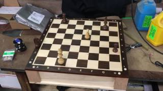 Evilusions chess board game with compartment