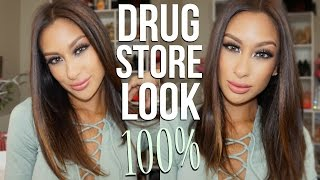DRUGSTORE MAKEUP LOOK | Teal Winged Liner