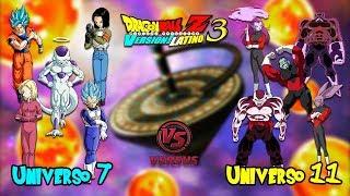 TORNEO DE PODER: UNIVERSO 7 VS UNIVERSO 11 - Dragon Ball Z Budokai Tenkaichi 3 Version Latino