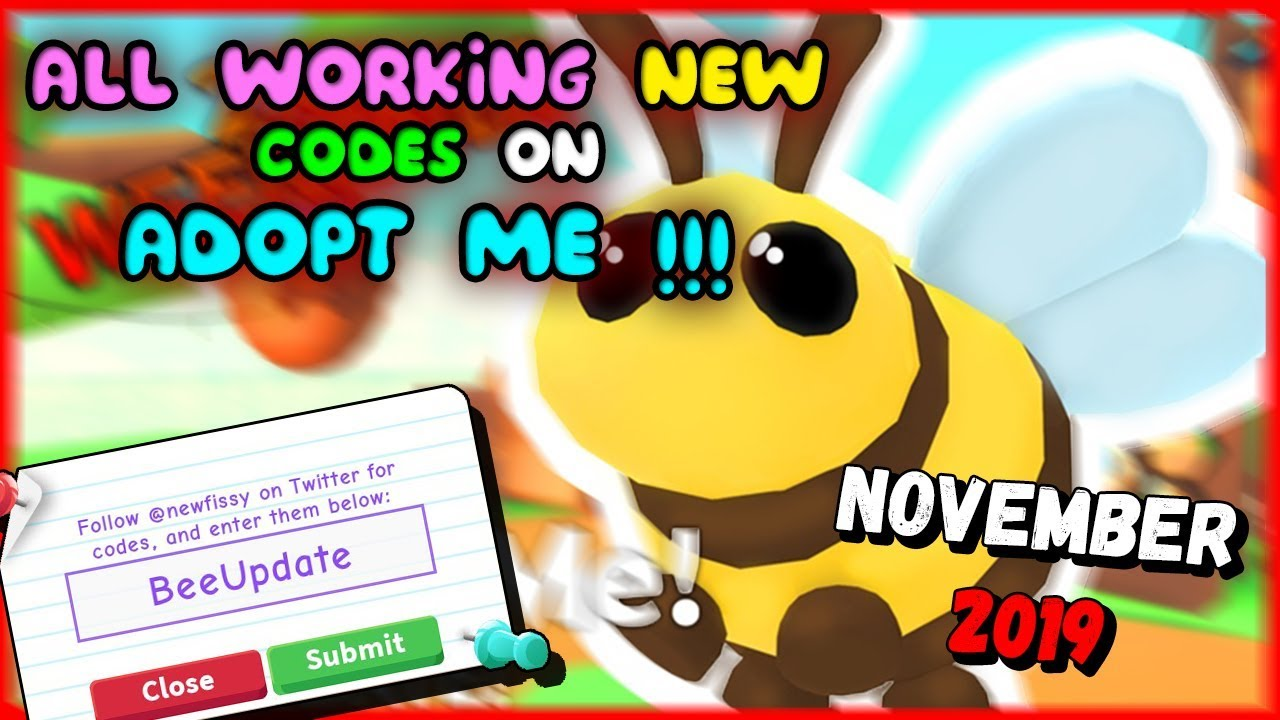 All New Codes On Adopt Me November 2019 Roblox Youtube