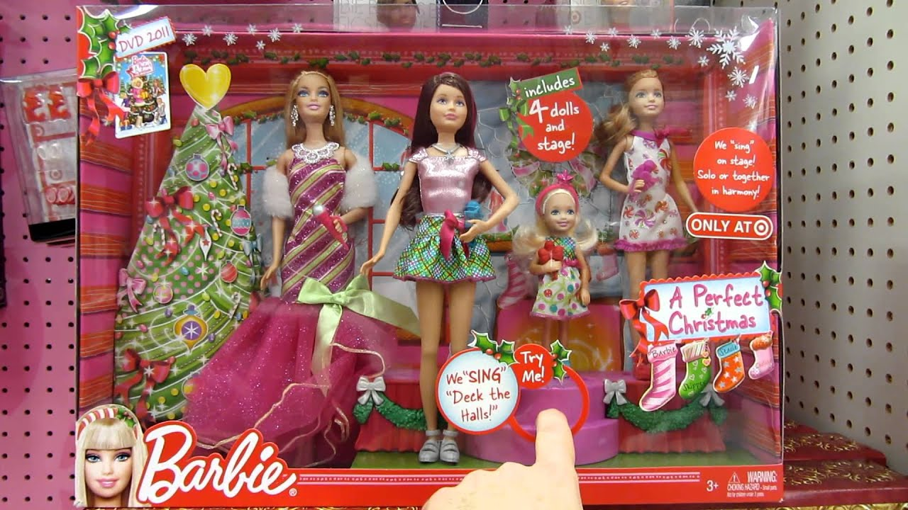 A Perfect Christmas Tar Exclusive Gift Set Barbie and her