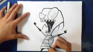 "Cómo dibujar a Zim 3 - ""Invasor zim"" 