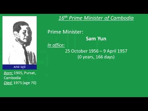 List of Prime Ministers of Cambodia from 1945 to 2014   YouTube 2