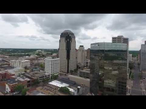 Downtown Shreveport DJI Phantom 4 Drone Video