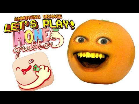 Annoying Orange plays Moneygrabber! - Grab that cash!!!