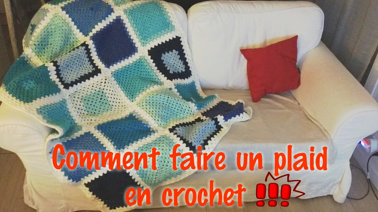 mod le de plaid en crochet written pattern youtube. Black Bedroom Furniture Sets. Home Design Ideas