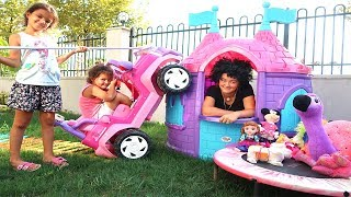 Masal pretend to play with a toy store and play new toys, Funny kids Video