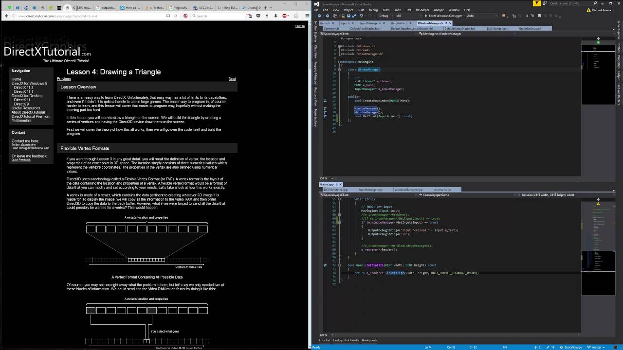 Directx 9 background image - Live Coding Programming In C Moving Window Creation And Message Loop To Background Thread