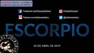 Horóscopo Diario - Escorpio - 20 de Abril de 2019