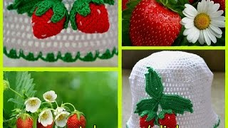 Вяжем клубнику крючком (Knit crochet strawberries)