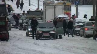 Первый снег в Запорожье 17 декабря 2009г.
