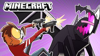 Minecraft where we we use guns to beat the game...