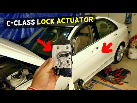 MERCEDES W204 DOOR LOCK ACTUATOR REPLACEMENT REMOVAL C200 C250 C300 C350 C220 C260
