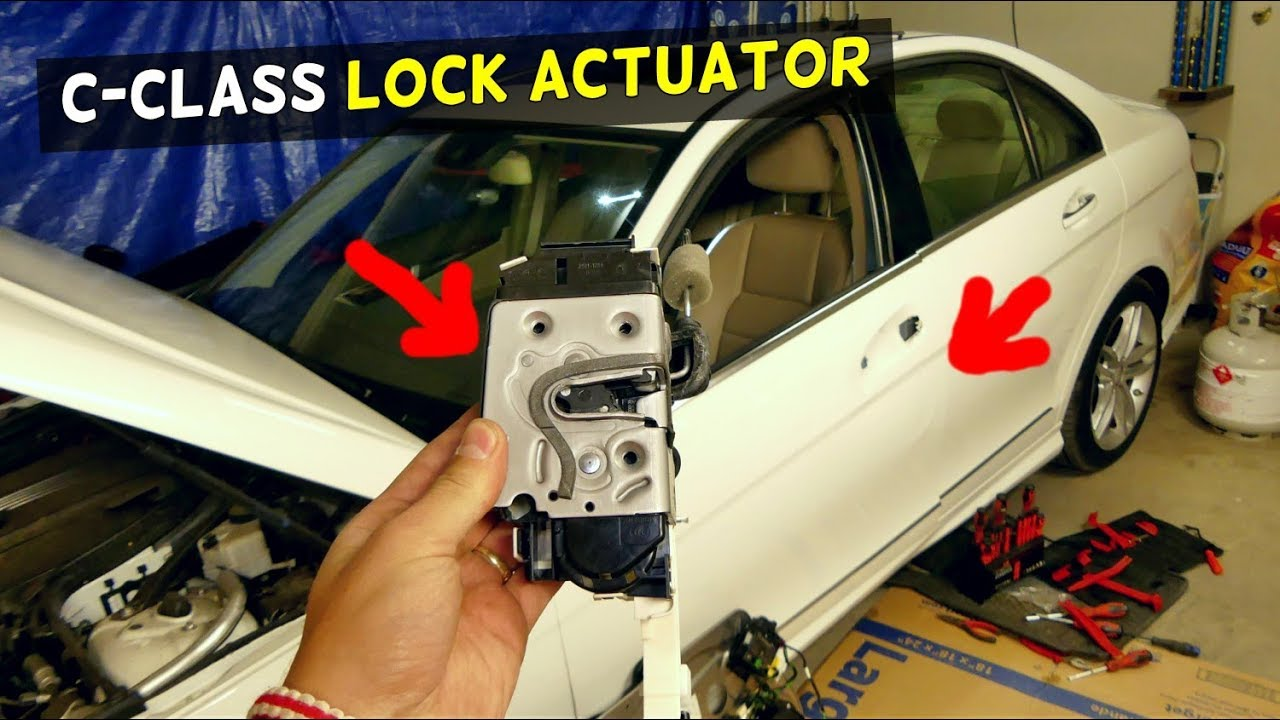 Mercedes W204 Door Lock Actuator Replacement Removal C200 C250 C300 C350 C220 C260 Youtube