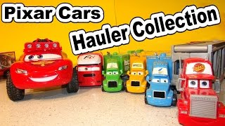 Pixar Cars Collection of Haulers from Cars Cars2 and More