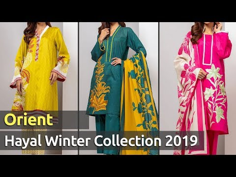 Latest Collection of ORIENT (HAYAL) Winter Dresses 2019 | Pakistani Winter Suits Designs