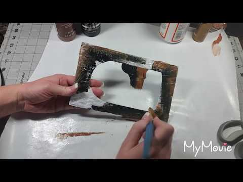 Tutorial For Faux Metal Chipboard Frame Vintage Or Antique Style