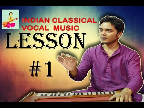 Learn Indian classical music vocal singing Lesson #1 Know scales and play Harmonium