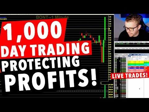 1,000 Dollar Day Trading LIVE! PROTECTING MY PROFIT!