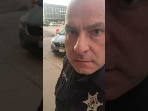 Lockport Police Officer Fyre batteries me.