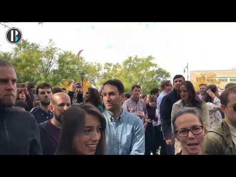 Manifestación de los trabajadores de google por escándalos de acoso sexual