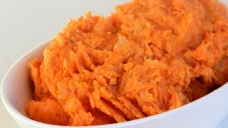 How To Make Mashed Sweet Potatoes With Rosemary & Yogurt - Thanksgiving Recipe