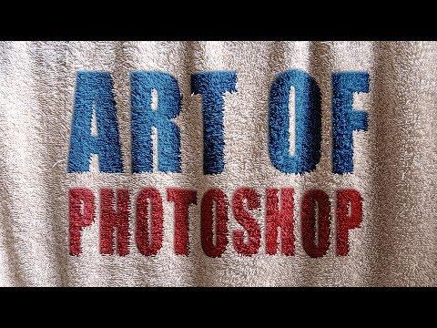 Наложение текста на ткань в фотошопе Уроки отArt Of Photoshop
