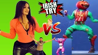 Irish People Try ALL FORTNITE DANCES In REAL LIFE!! - (( Challenge ))