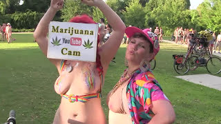 World Naked Bike Ride New Orleans 2016 Part 6 of 6, Recorded by CANNABIS CAM thumbnail