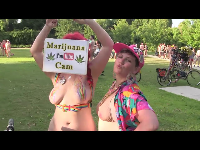 World Naked Bike Ride New Orleans 2016 Part 6 of 6, Recorded by CANNABIS CAM