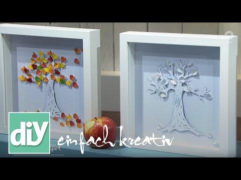 Bild mit Papercut-Baum | DIY einfach kreativ