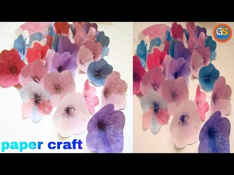 How to make paper flower hanging,ceiling flower,paper wind chimes