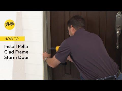 How To Install Pella Clad Frame Storm Door